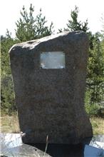 Minnessten över slaget i Piteå