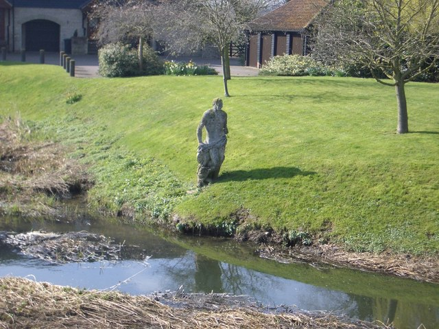 Statue of Jonah at Turvey - geograph.org.uk - 395954