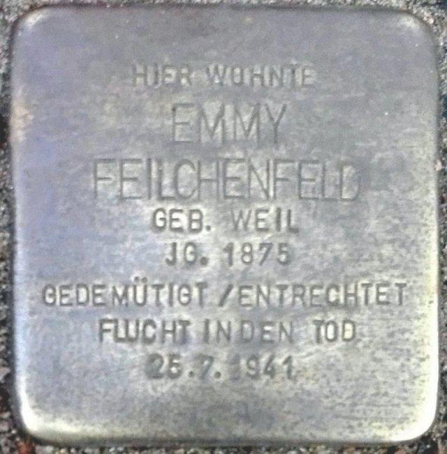 Stolperstein Parchim Feilchenfeld Emmy.jpg