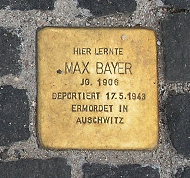 Photo of Max Bayer brass plaque