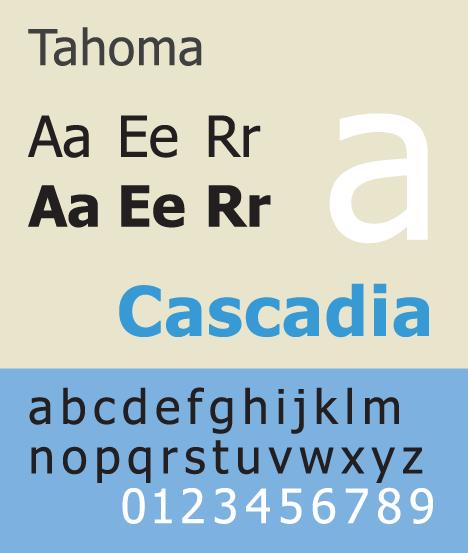 Tahoma Font