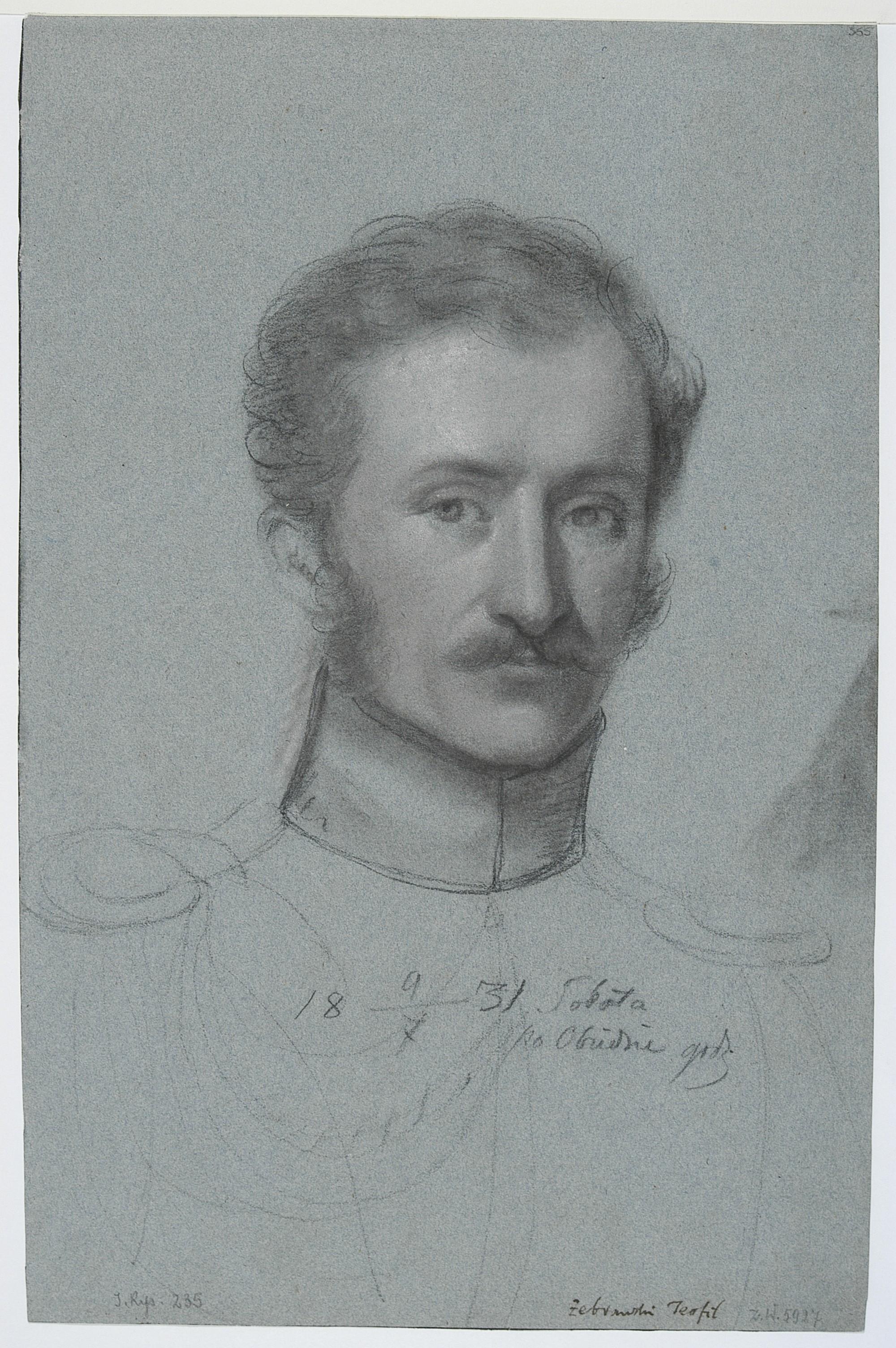 Teofil Żebrawski, self-portrait, 1830