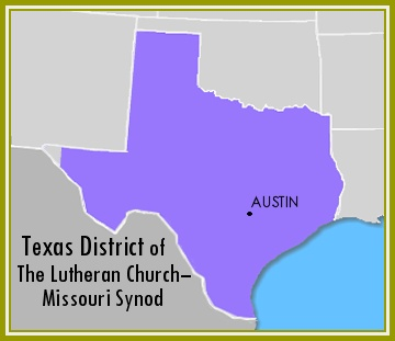 Map Of Texas Lutheran University.Texas District Of The Lutheran Church Missouri Synod Wikipedia