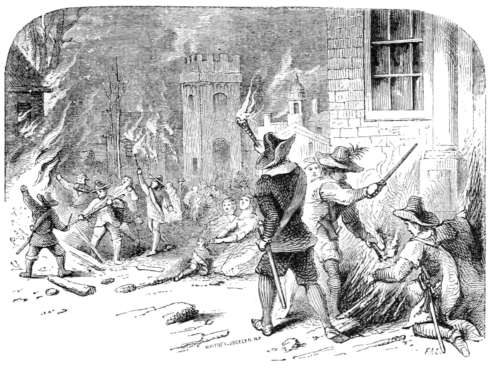 Burning of Jamestown during Bacon's Rebellion (1676)