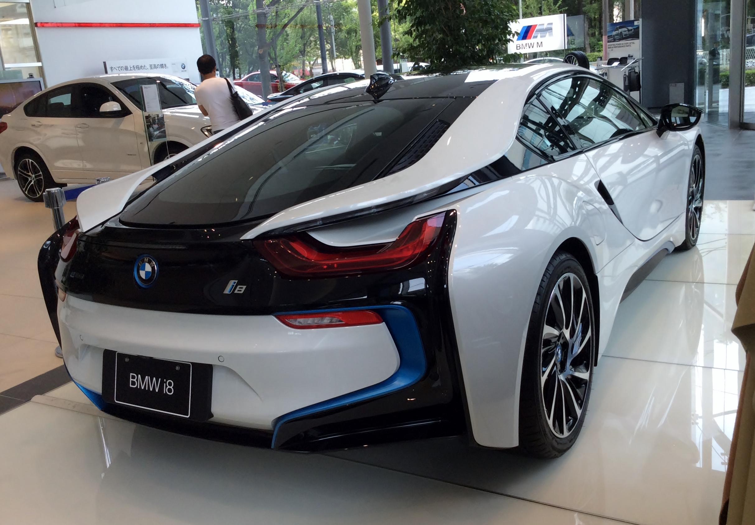 File The Rearview Of Bmw I8 Jpg Wikimedia Commons