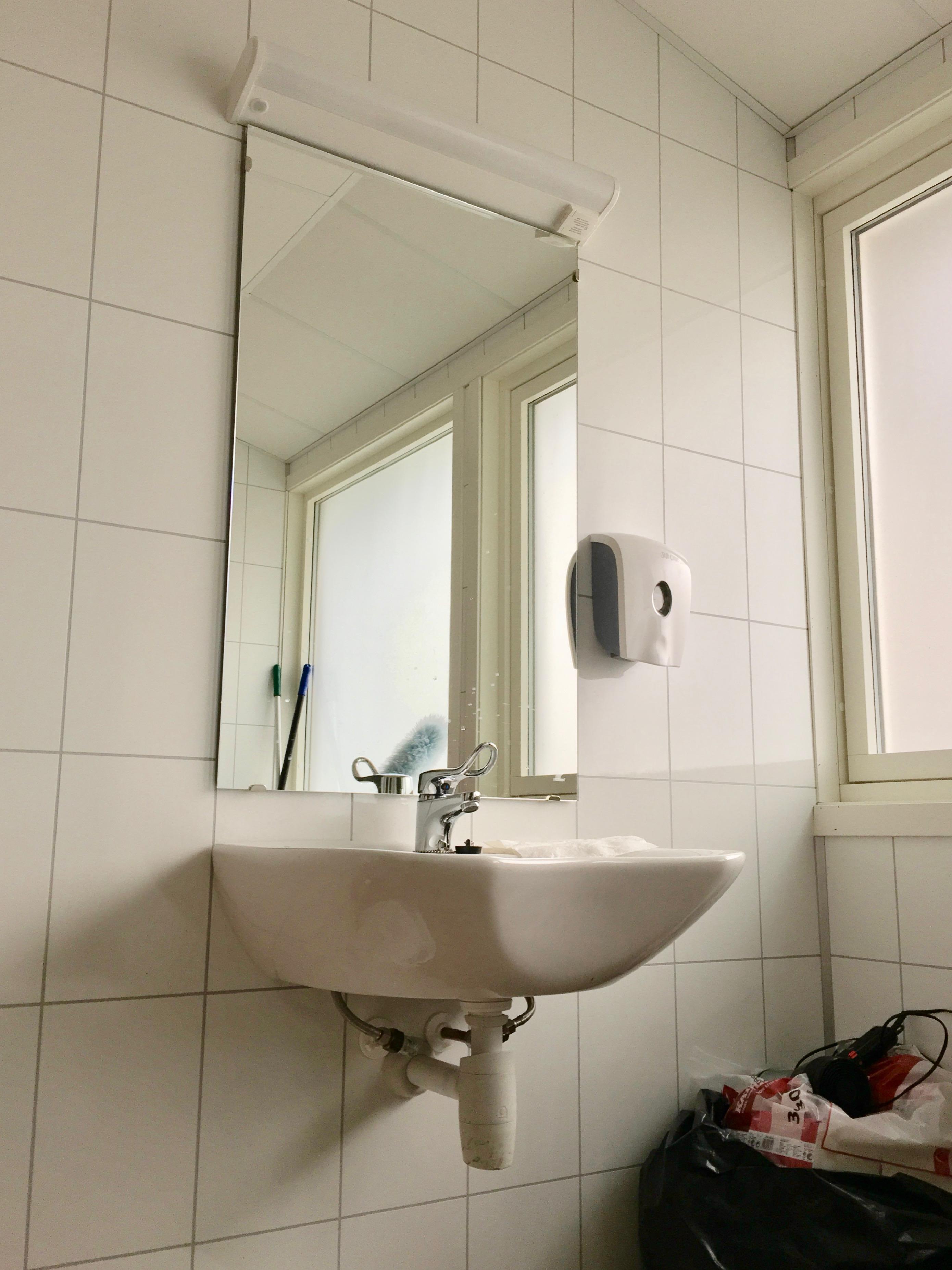 school bathroom mirror FileToiletsink Mirror Etc In