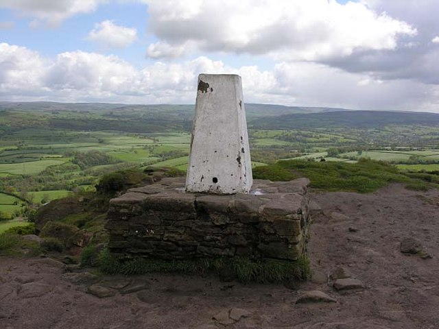 Trig point on Bosley Cloud - geograph.org.uk - 59794