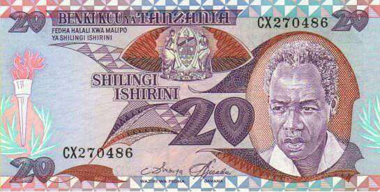 Tanzanské bankovky