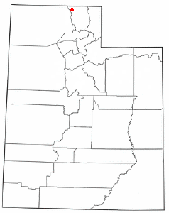 Location of Clarkston, Utah