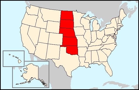 FileWikivoyage US Regions The Great Plains Statesjpg - The great plains on us map