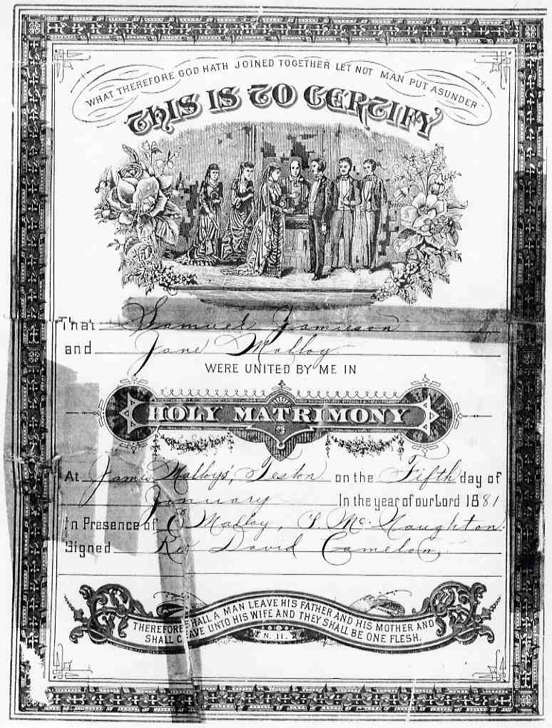 File1881 Marriage Certificate From Teston Ontariog Wikimedia