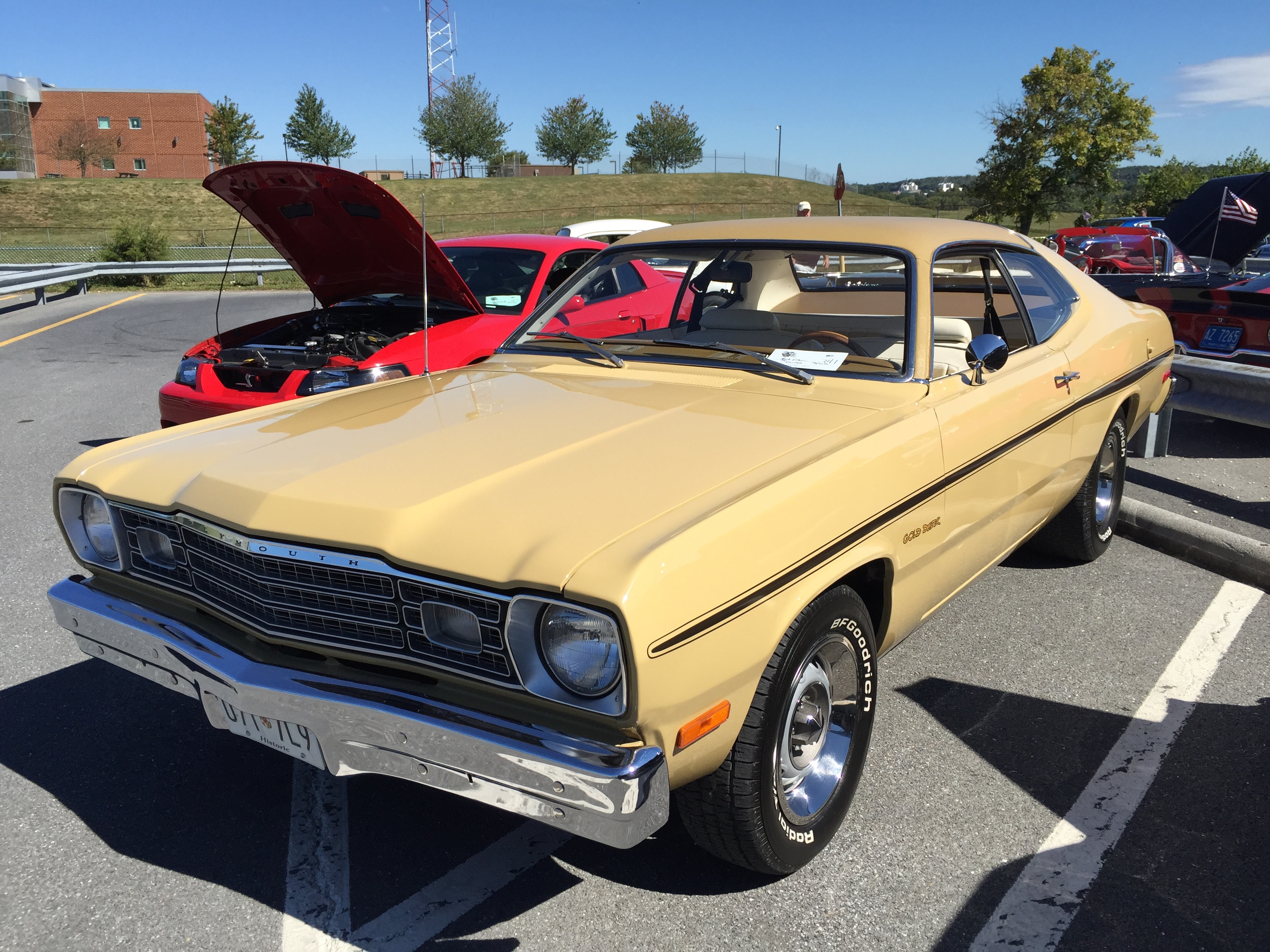 File 1974 Plymouth Gold Duster At Md Dmv 2015 Show 1of5