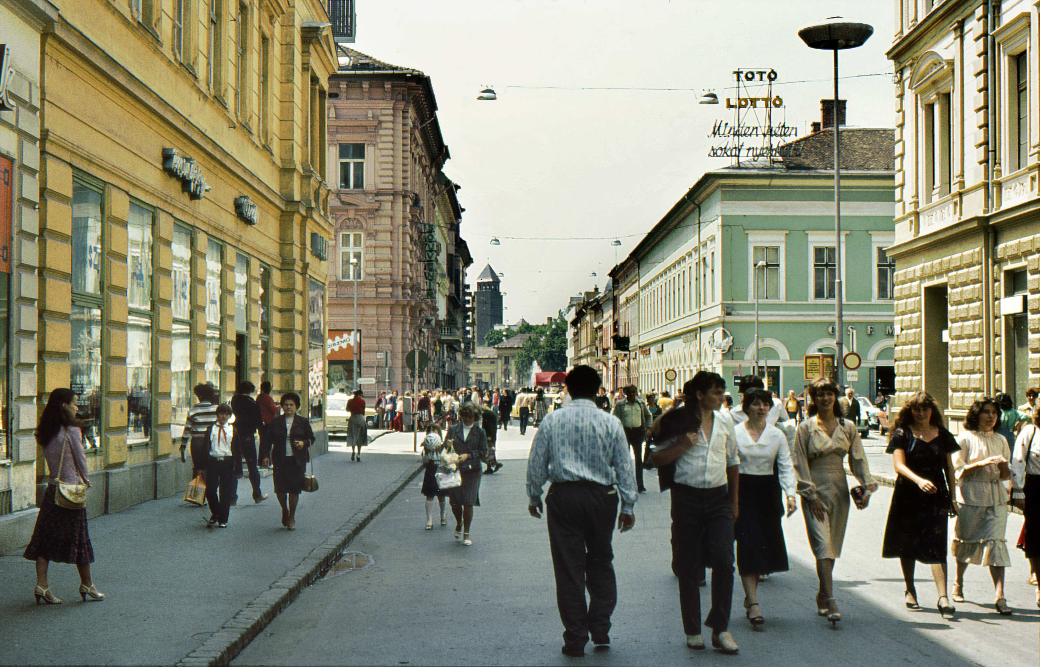 File 1981 Junius Karasz Walking Street Of Szeged Hungary