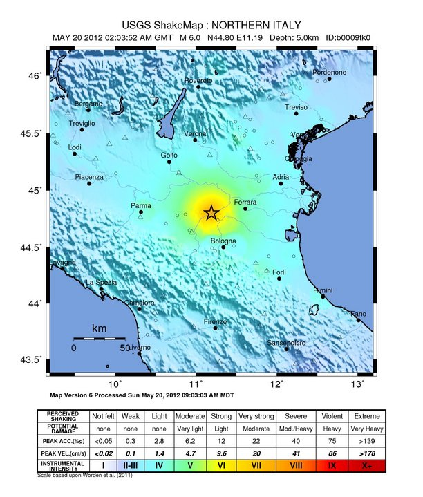2012 Northern Italy earthquakes - Wikipedia