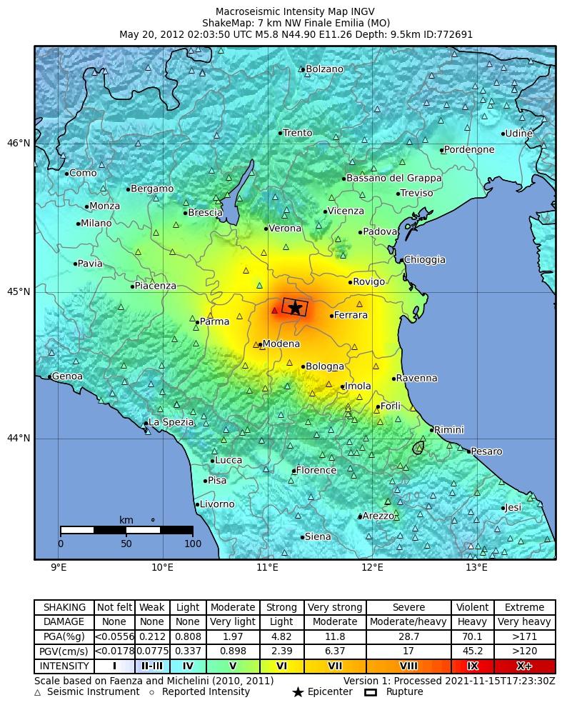 Cartina Sismica Italia Wikipedia.Terremoto Dell Emilia Del 2012 Wikipedia
