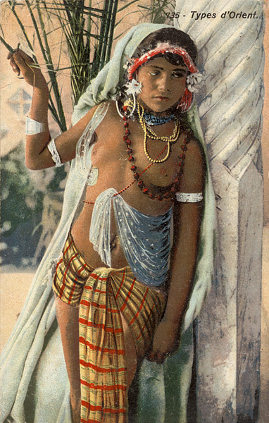 Va tikriausiai taip daugelis europiečių ilgus laikus įsivaizdavo haremo vergę - Lehnert & Landrock atvirukas