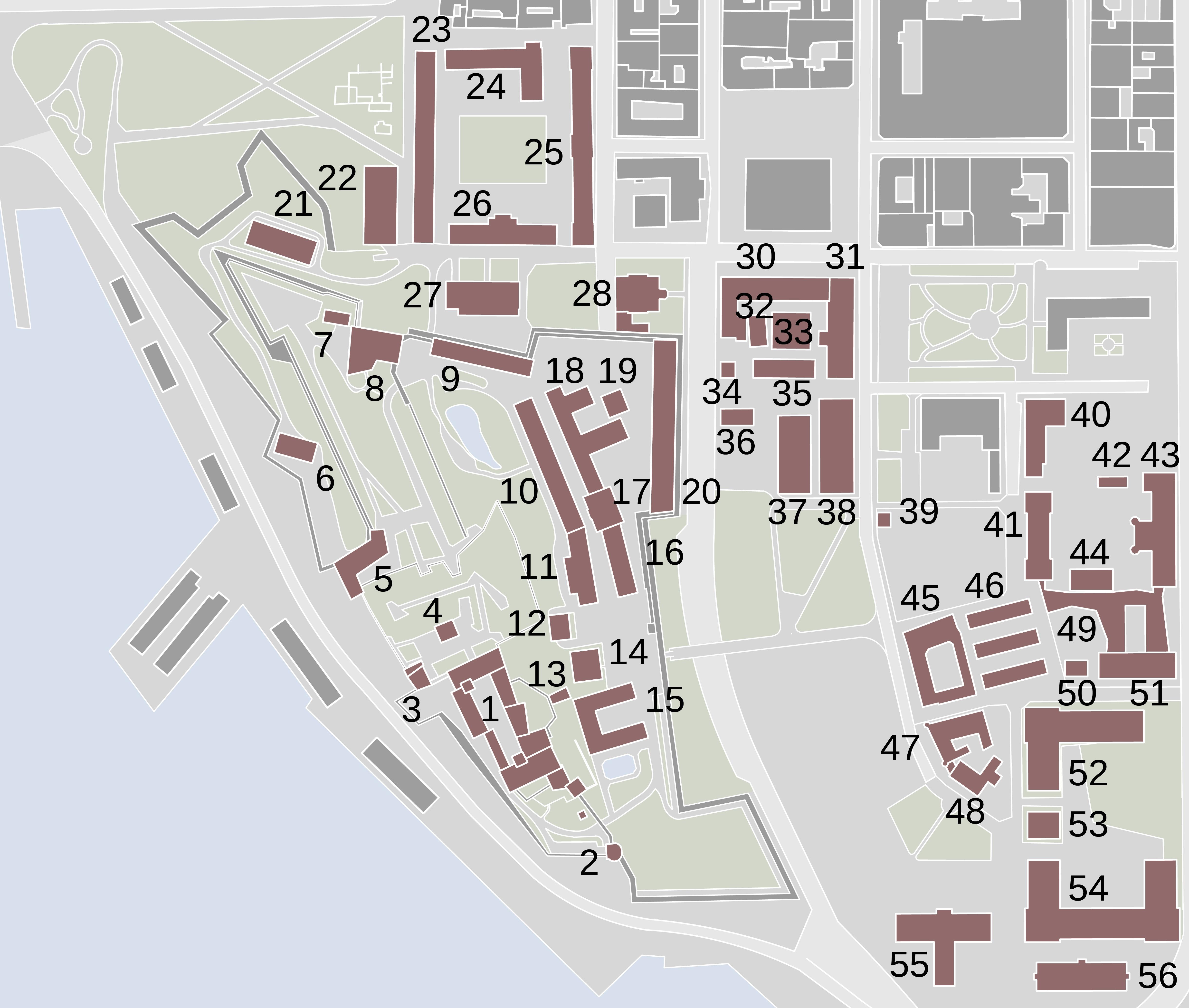 ridehuset akershus festning kart File:Akershus fortress map   buildings.   Wikimedia Commons ridehuset akershus festning kart