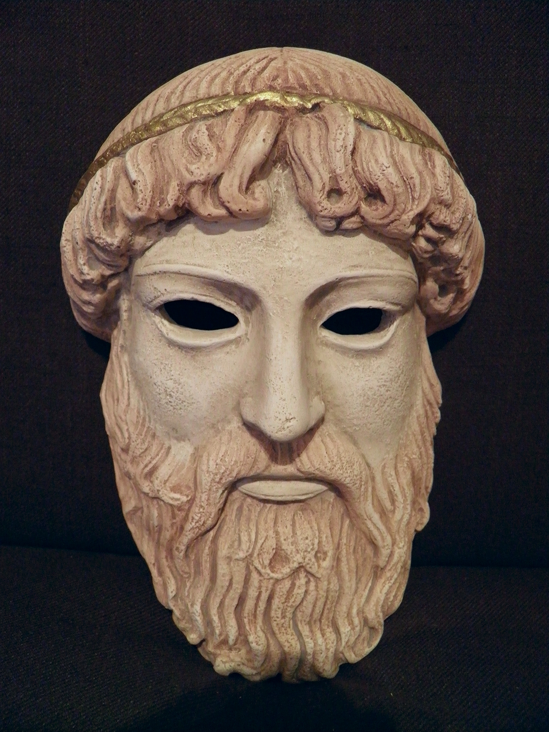fileancient greek theatrical mask of zeus replica
