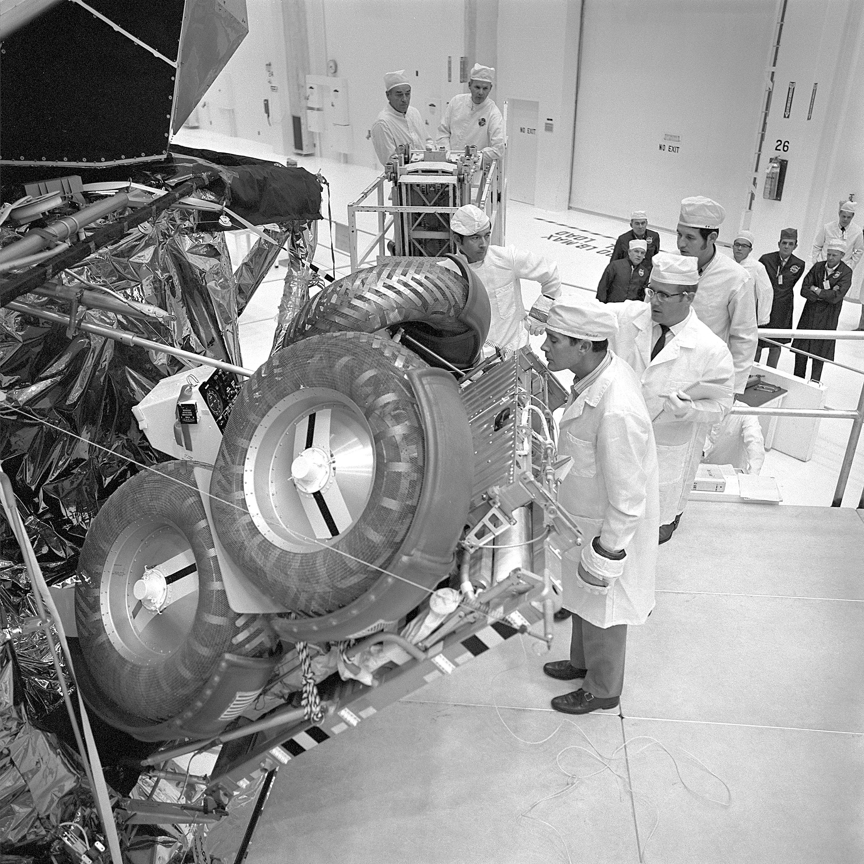 File:Apollo 16 Astronauts Inspect Lunar Rover - GPN-2000 ...