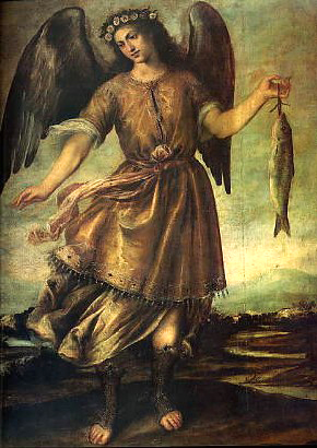 Español: Arcángel San Rafael (antes de 1647, q...