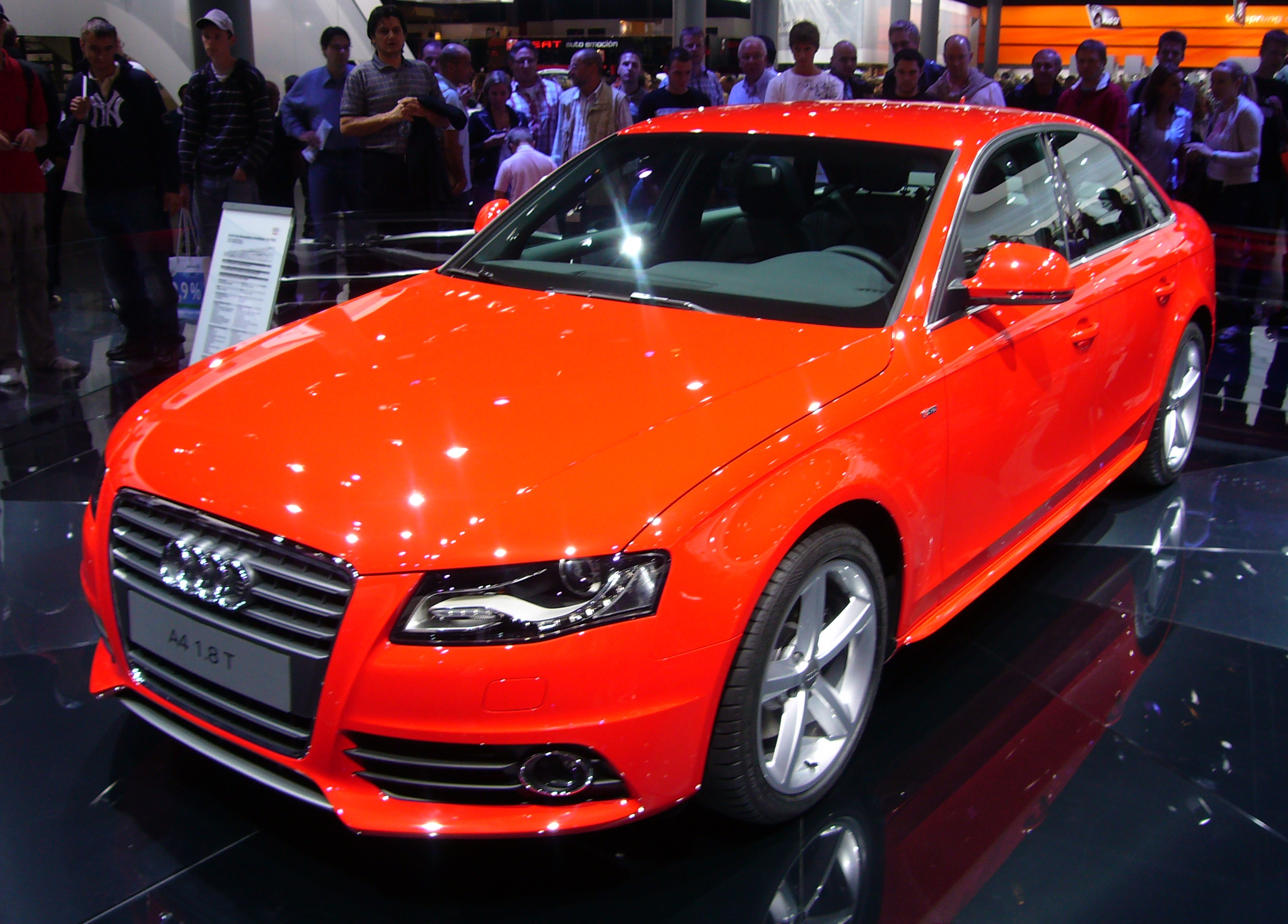 File Audi A4 Front Quarter Jpg Wikimedia Commons