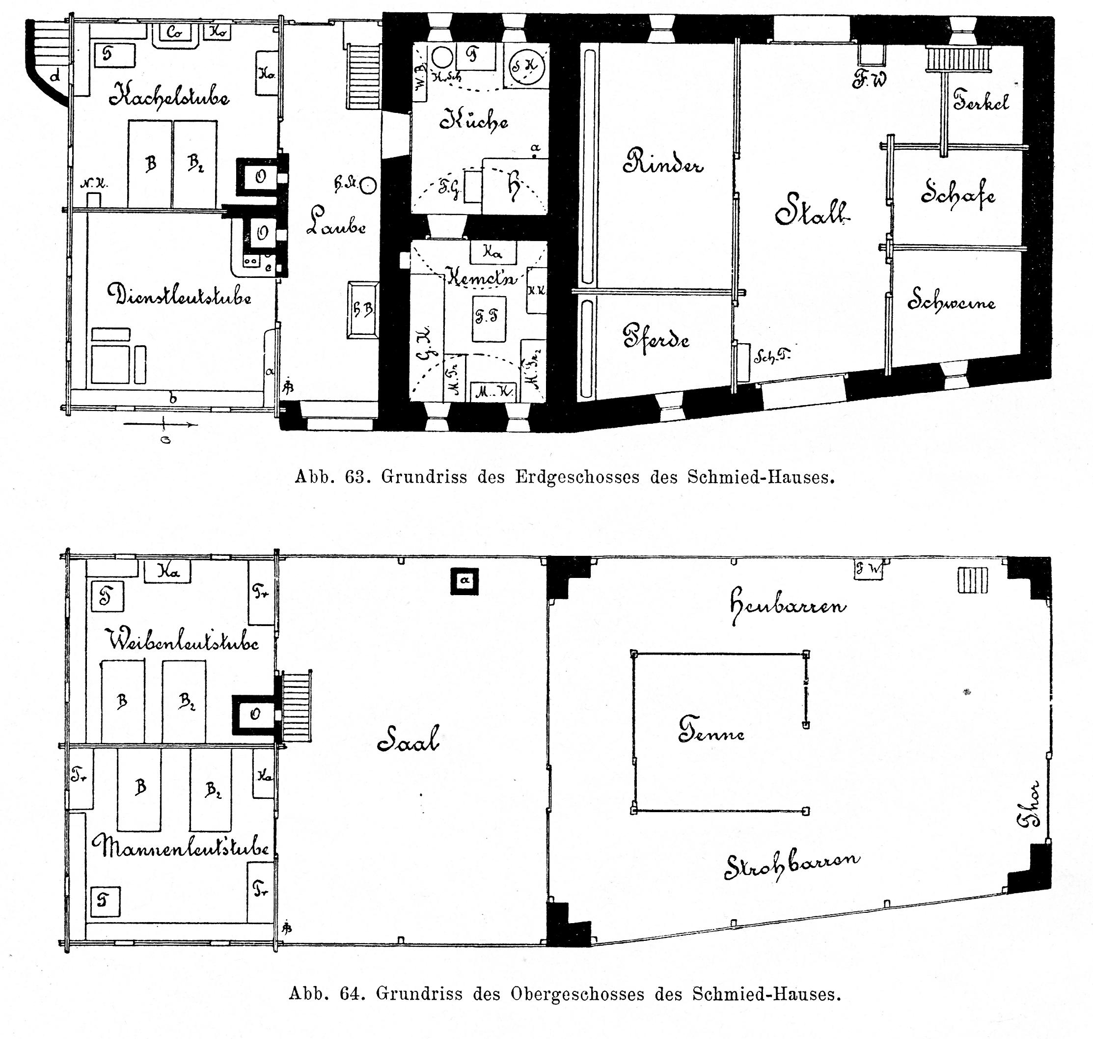 File:Bünker 1902 S 090 Sw Schmied Haus Treffling Grundriss