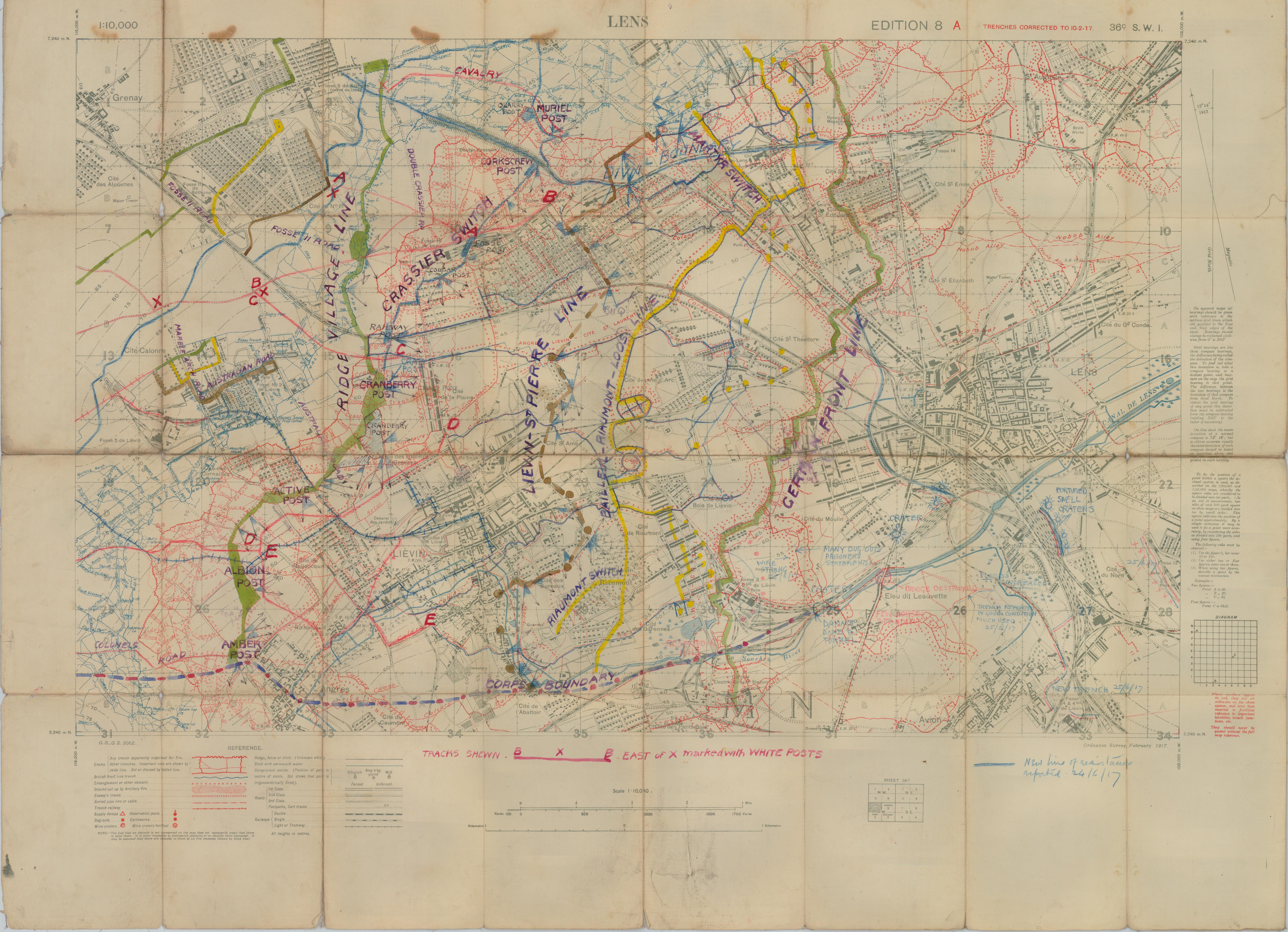 File:Battle of Hill 70 - local planning map.jpg - Wikimedia Commons
