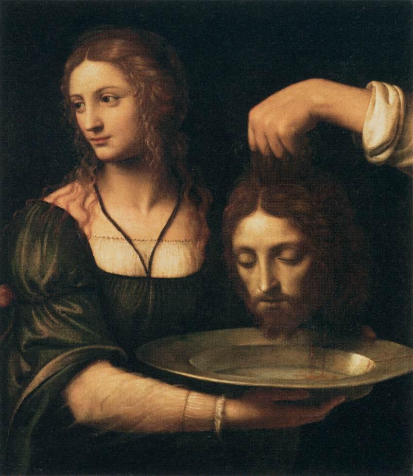 этот радостный батиста оторванная голова на тарелке вот дочь Марии
