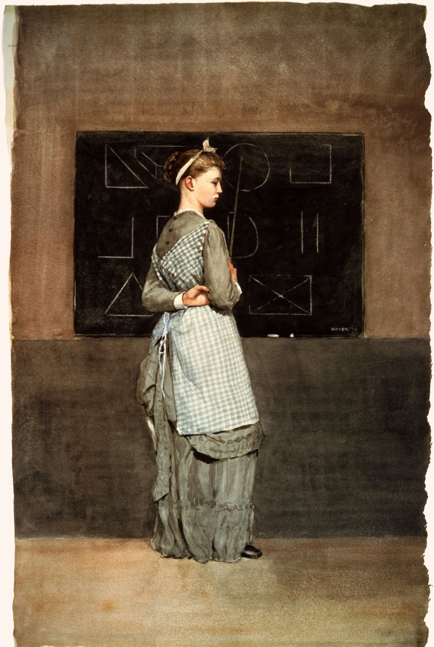 Blackboard by Winslow Homer, 1877