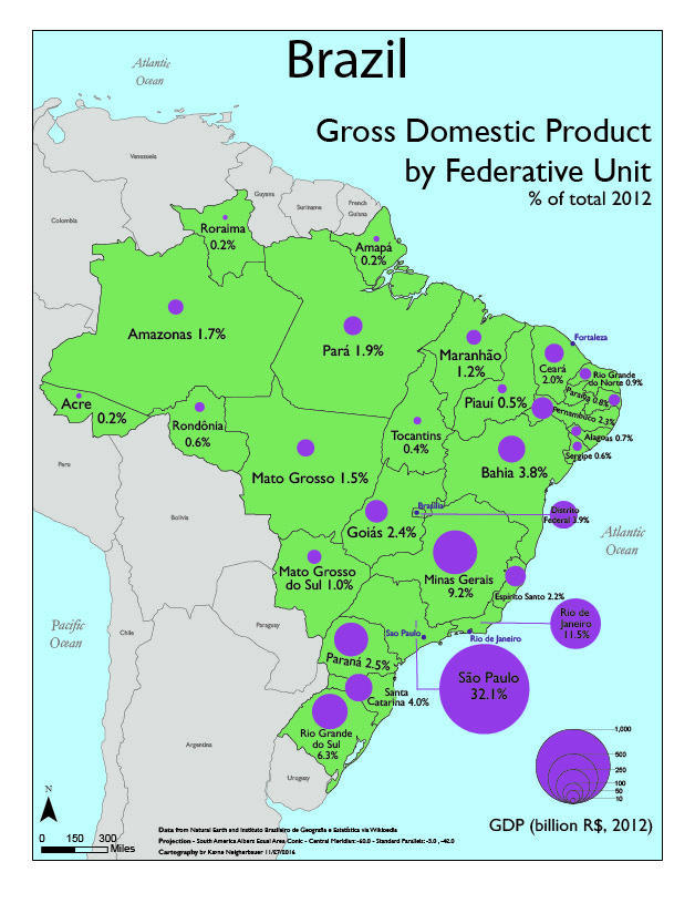 List Of Brazilian Federative Units By Gross Domestic