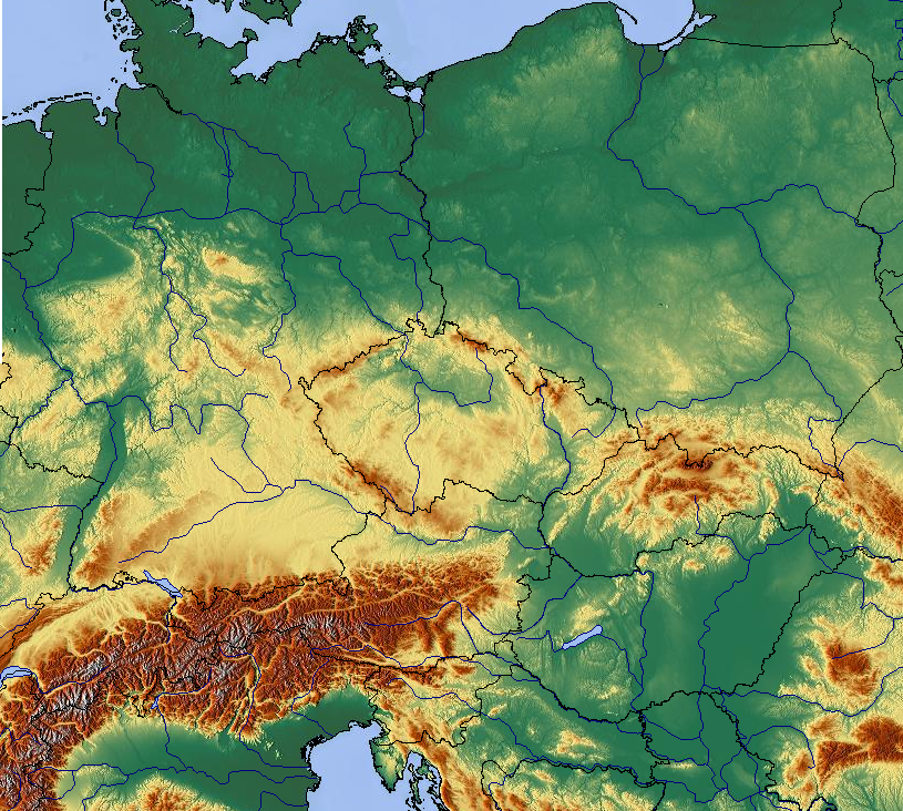 map of central europe 2012 File:Central Europe map, blank with borders.png   Wikimedia Commons