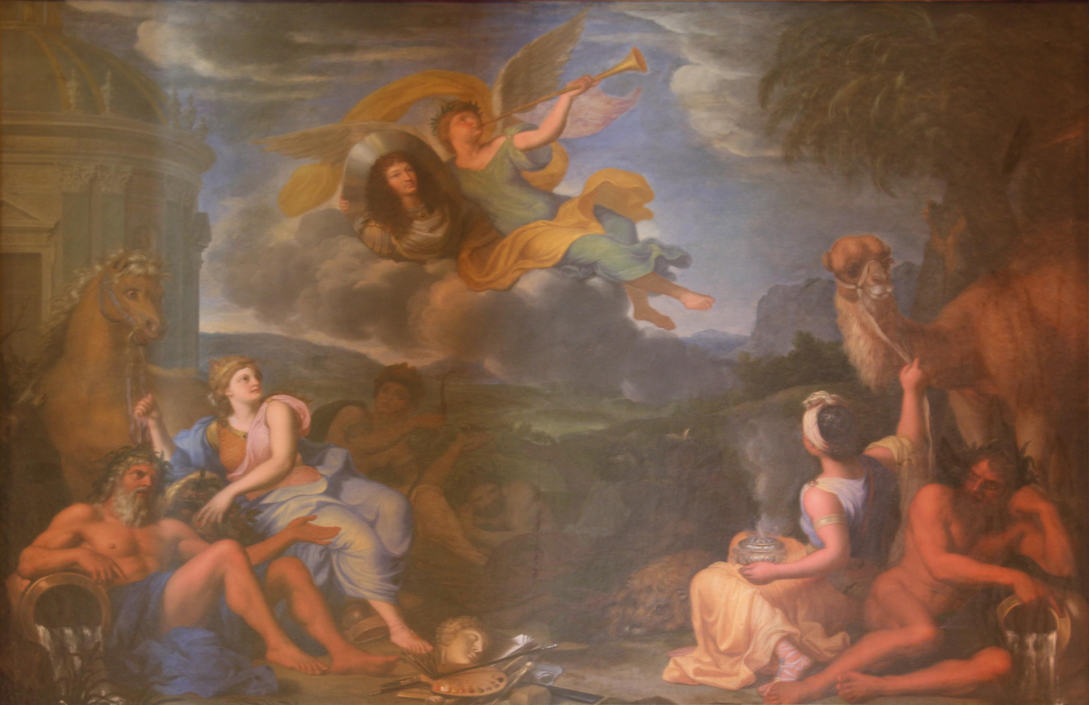 File:Château de Versailles, salon d'Apollon, La renommée ...