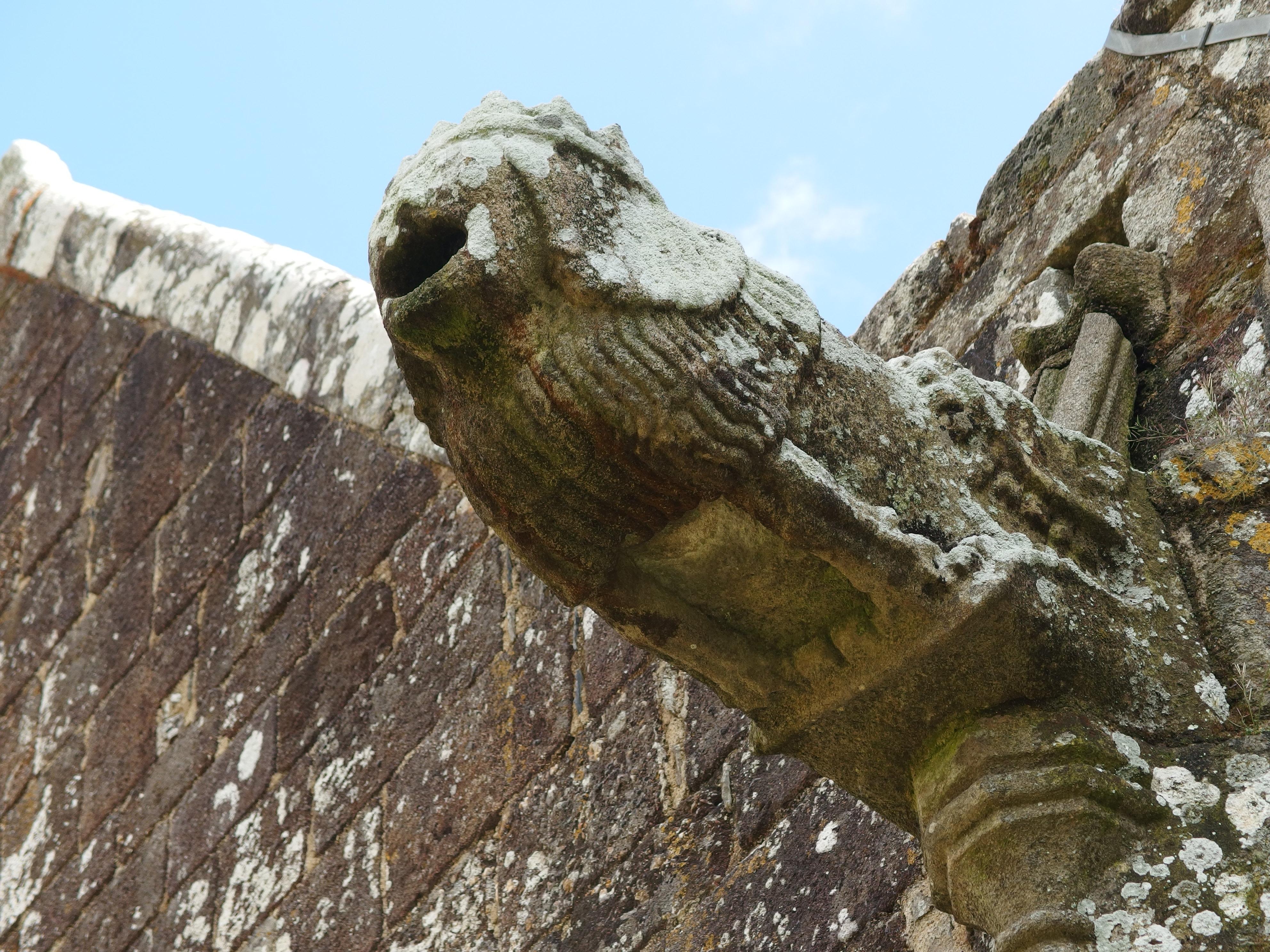 Gargoyle on the Chapelle Saint-Fiacre in Radenac, Brittany