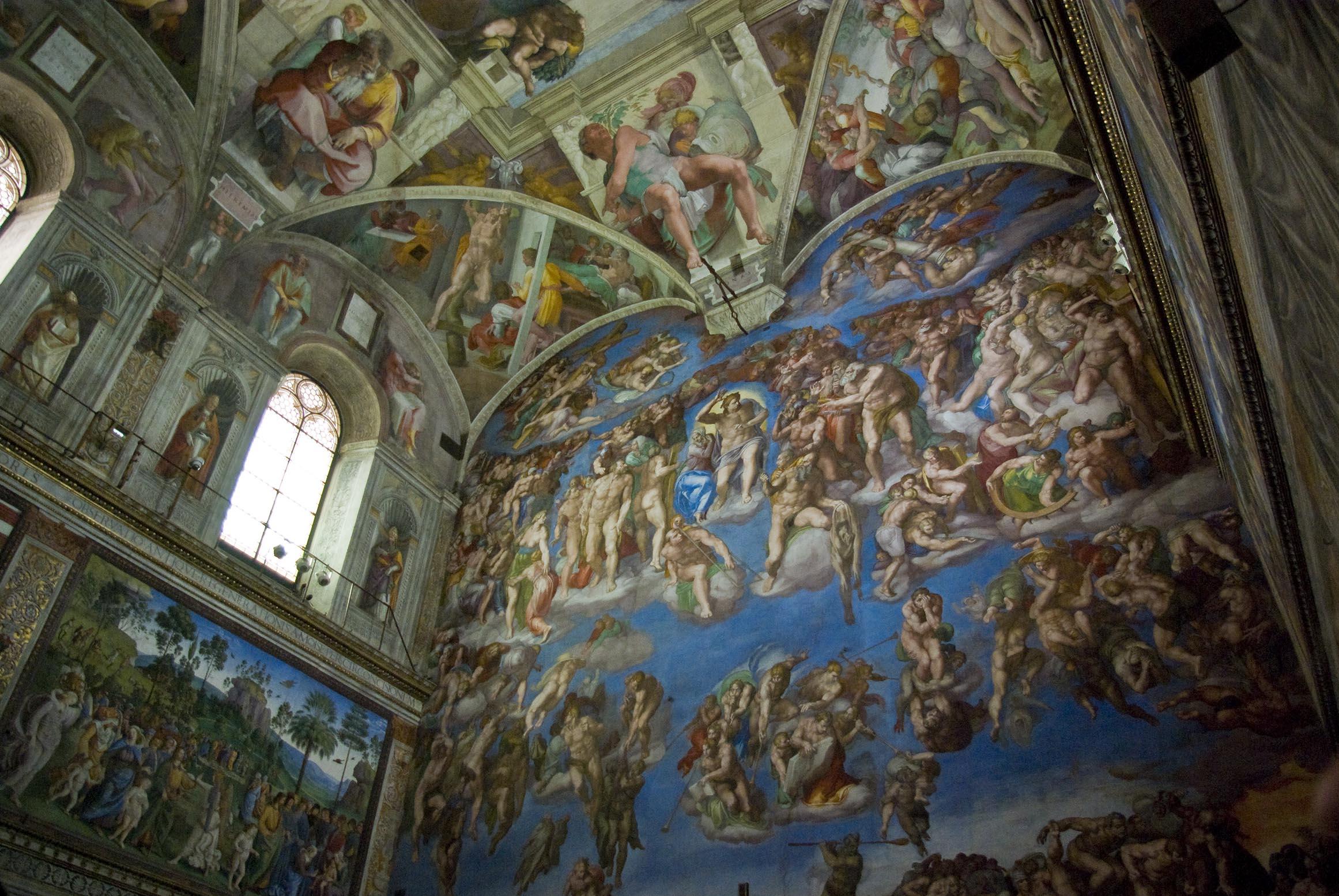 Chapelle sixtine reconstitution en 3d forum 3dvf - Michel ange le plafond de la chapelle sixtine ...