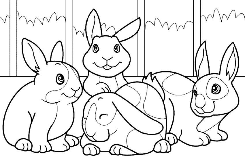 File:Conejos para colorear.   Wikimedia Commons