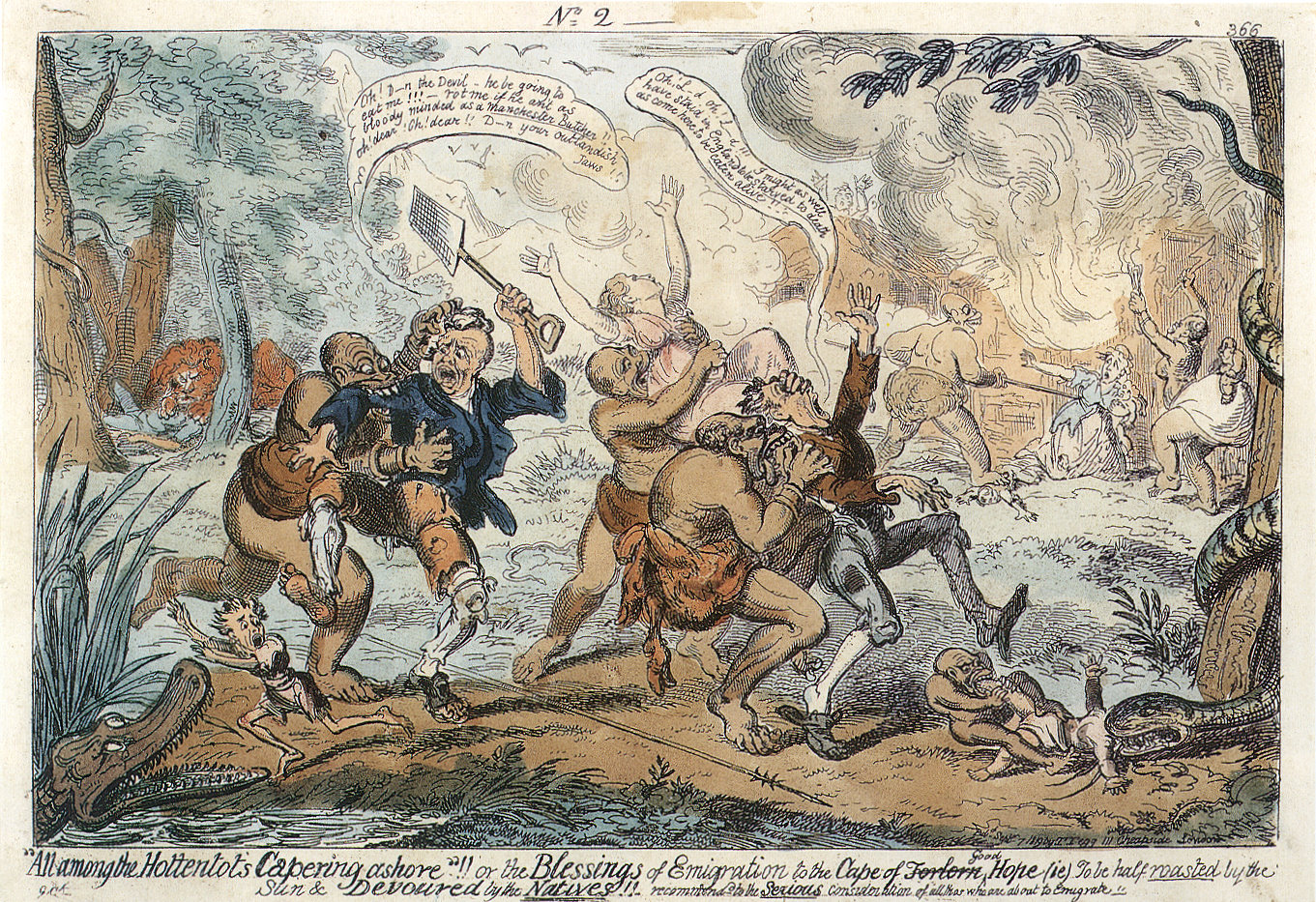 File:Cruikshank All among the Hottentots capering to shore ...