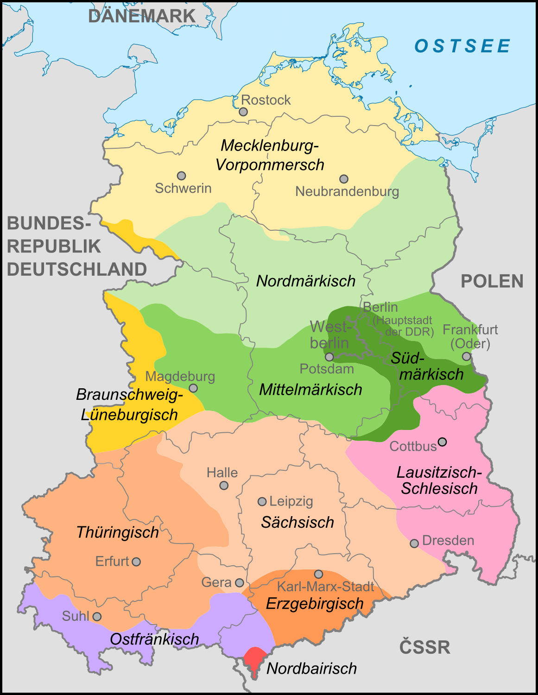 tyske delstater kart Fil:Dialekte in der DDR.png – Wikipedia tyske delstater kart