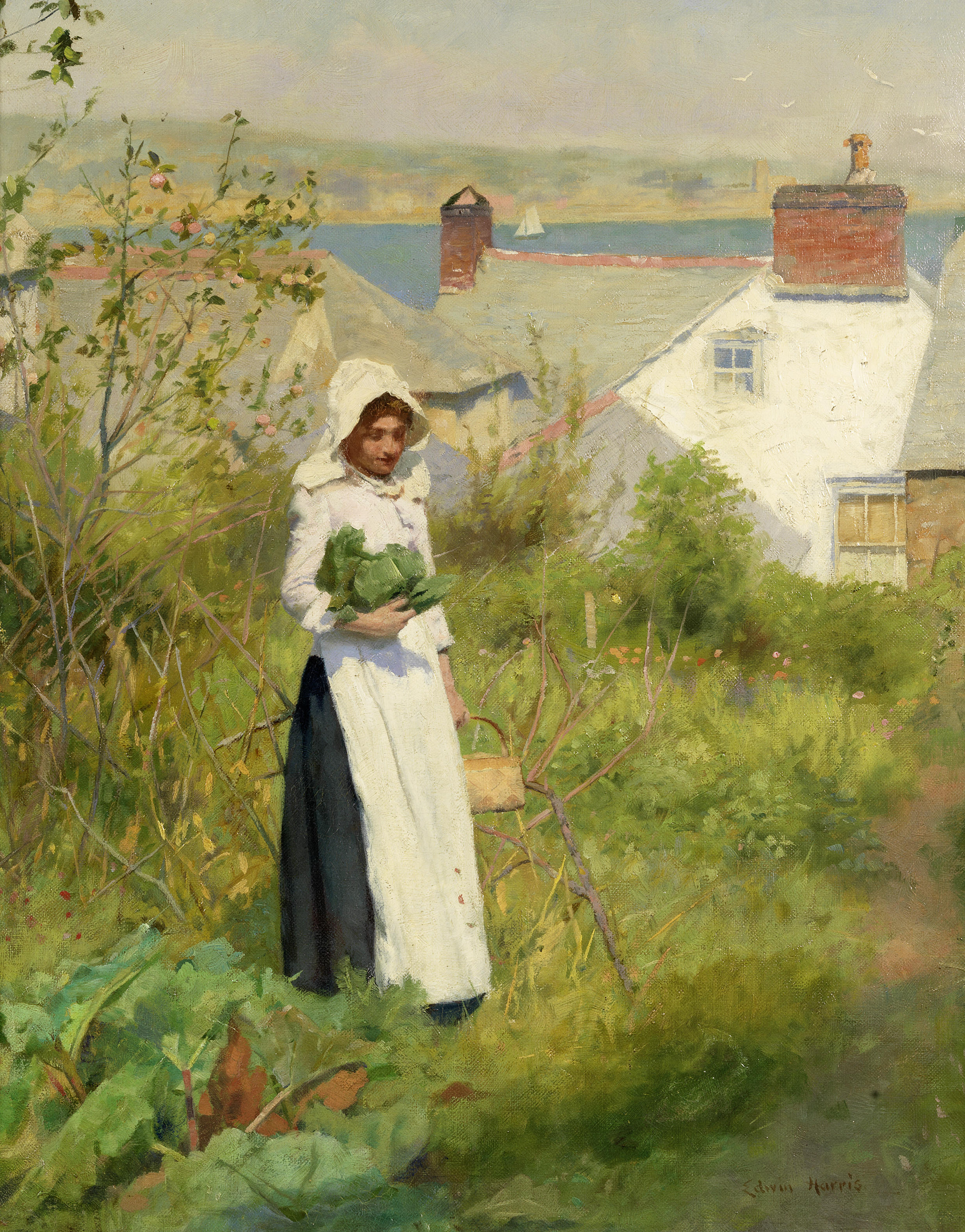 Edwin Harris A Cornish cottage garden