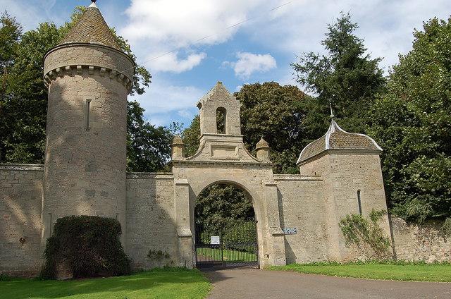 Front gate of Duns Castle