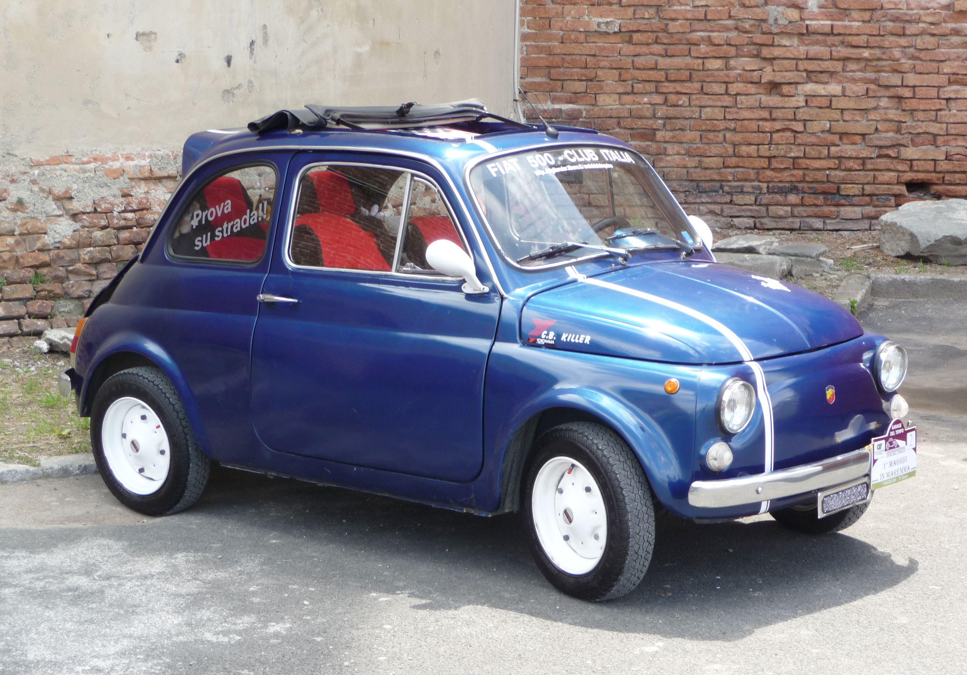 File Fiat 500 Abarth Blue Jpg Wikimedia Commons