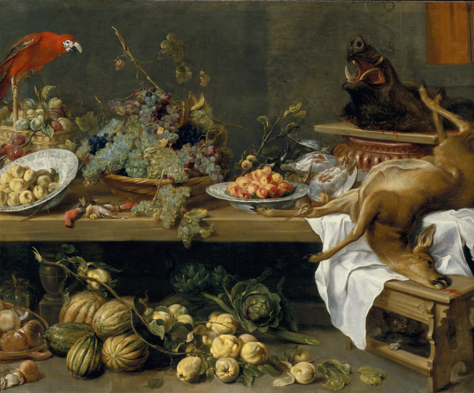 File:Still Life with Game Fowl,Vegetables and Fruits ...