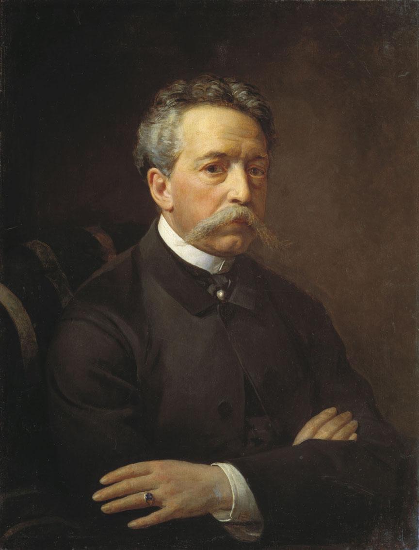 На портрете работы В. Боброва (1867)