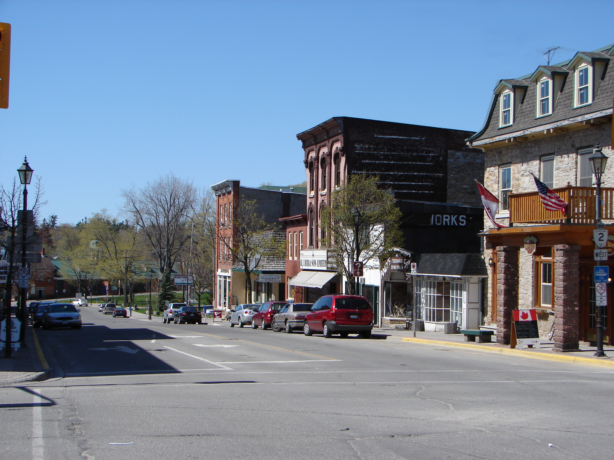 King Street, the main street in Gananoque