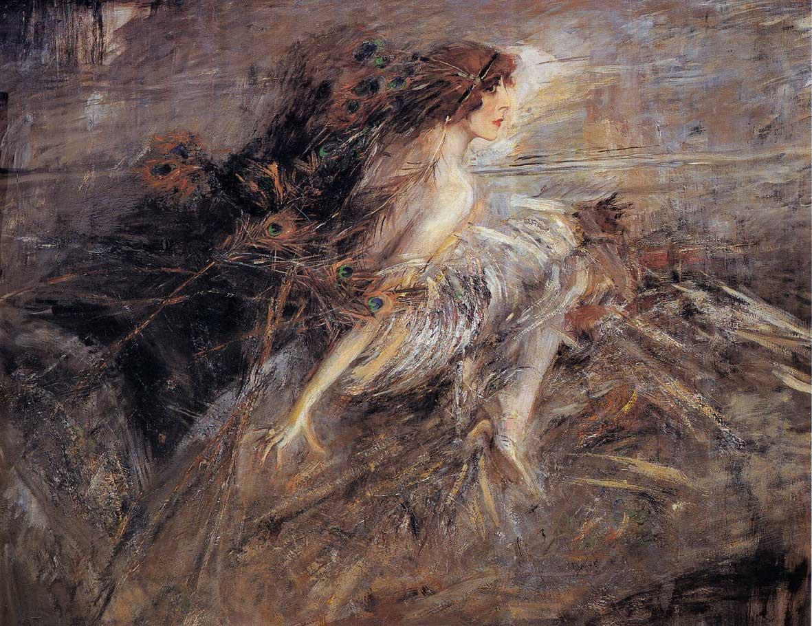 Giovanni Boldini La marchesa Luisa Casati con penne di pavone (Portrait of the Marquise)