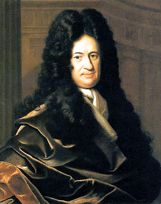 Photo image of Gottfried Wilhelm von Leibniz by Christoph Bernhard Francke, via Wikimedia Commons