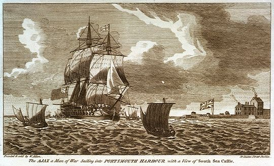 HMS Ajax 1767 Portsmouth Harbour