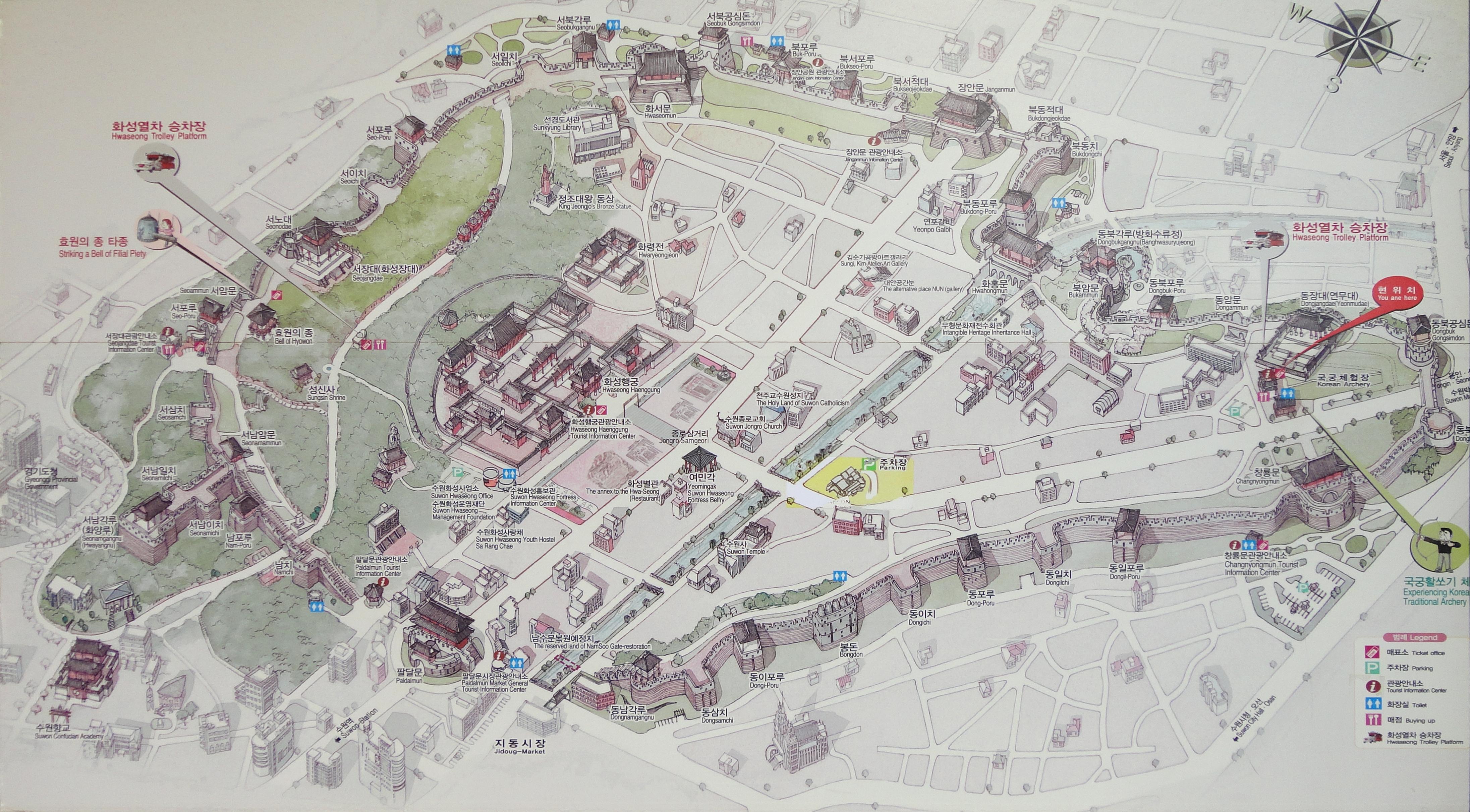 mapa fortaleza suwon