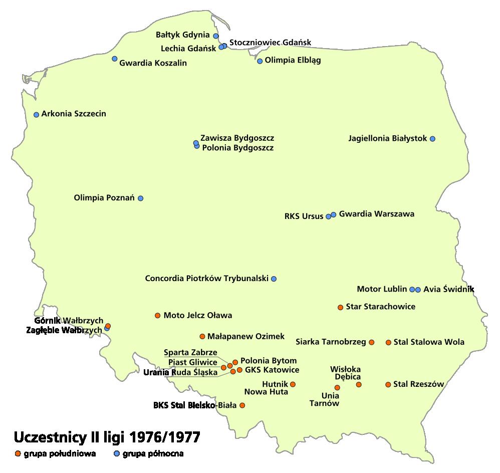 2 liga polska tabela