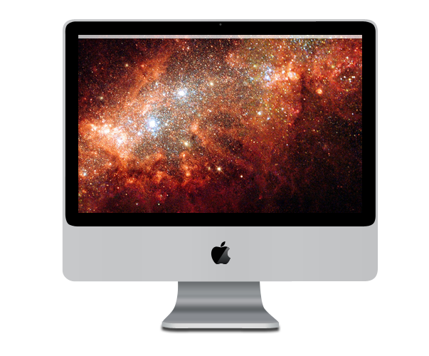 Apple iMac made with Photoshop CS3