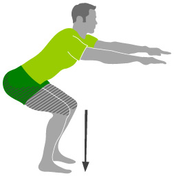 Second trimester exercises: squats